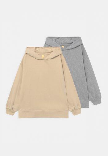 2 PACK UNISEX - Felpa - beige/mottled grey
