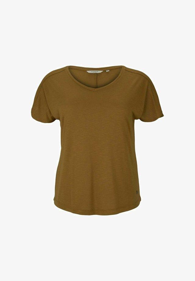 OVERCUT SLEEVES - T-shirt basique - khaki