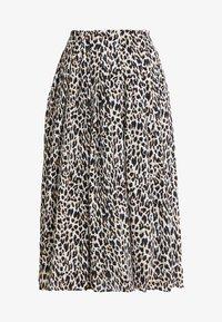 J.CREW - OCELOT PLEATED LEOPARD SKIRT - A-line skirt - natural multi - 4