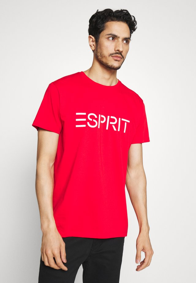 LOGO - Camiseta estampada - garnet red