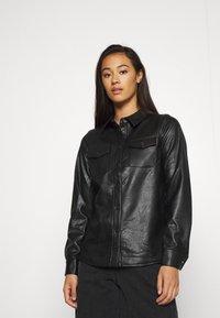 ONLY - ONLALISON JACKET - Faux leather jacket - black - 0