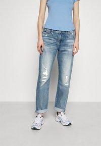 G-Star - KATE BOYFRIEND - Straight leg jeans - aqua destroyed - 0