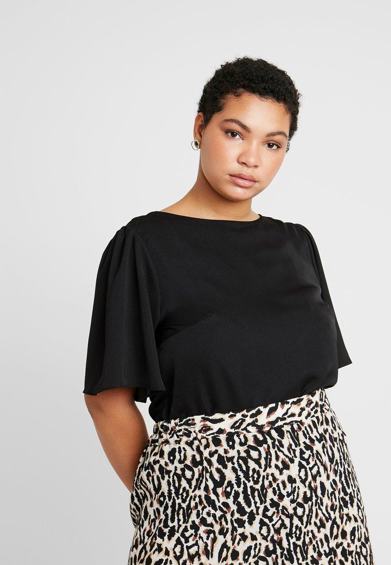 Glamorous Curve - SLEEVE BODYSUIT - Bluzka - black