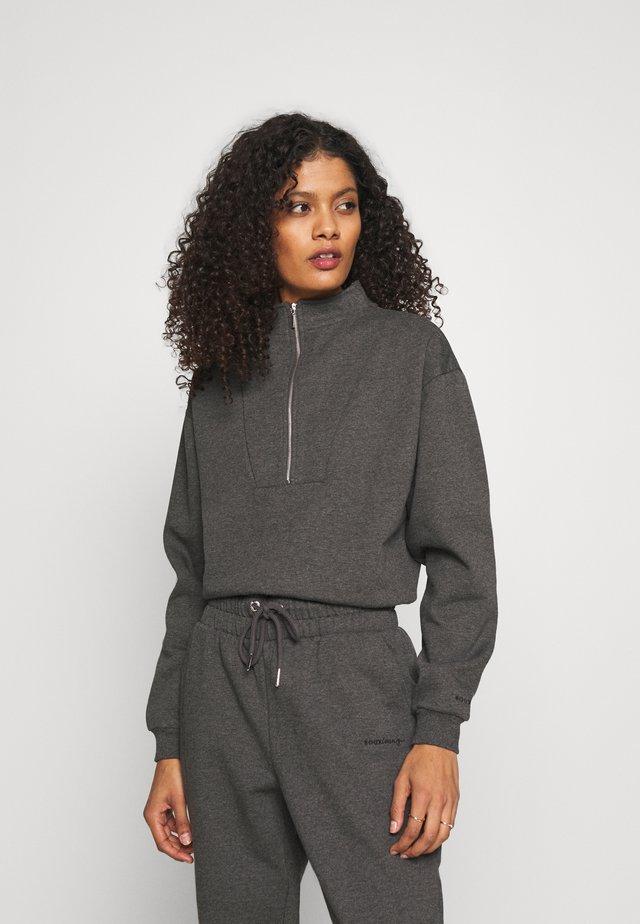HALF ZIP  - Maglia del pigiama - grey