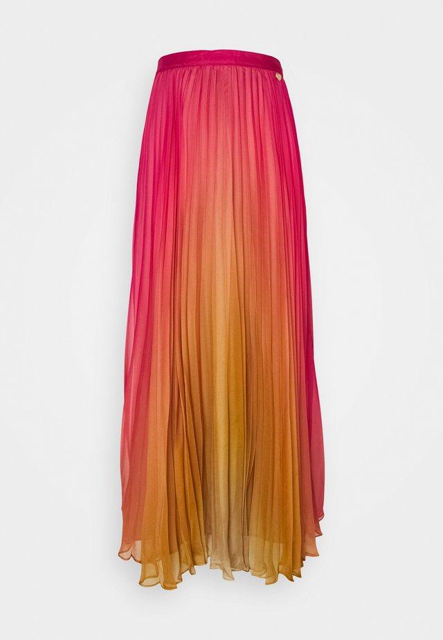 Maxi skirt - sugar coral/golden yellow
