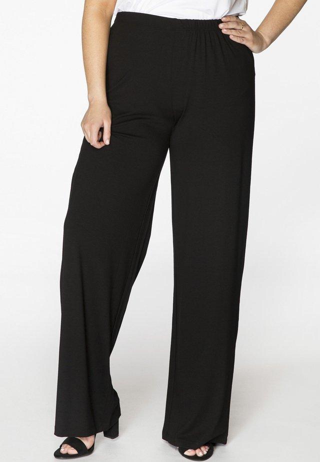 MIT EINEM ELASTISCHEN BUND - Pantalon classique - black