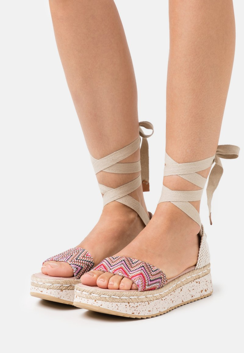 Wonders Green - Platform sandals - tonga pink