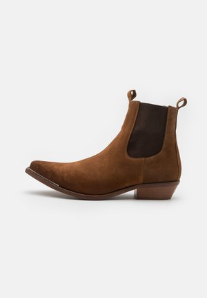 VIRGO - Cowboy/biker ankle boot - stone