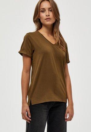 ADELE - T-shirt basic - dark olive