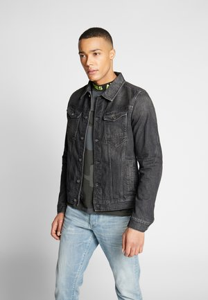 ARC 3D SLIM JKT - Denim jacket - sato black denim/faded basalt