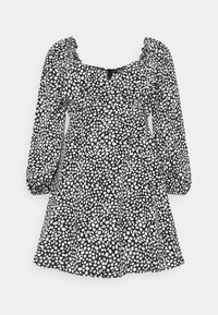 Missguided Plus - PLUS SIZE MILKMAID DRESS - Day dress - black - 0