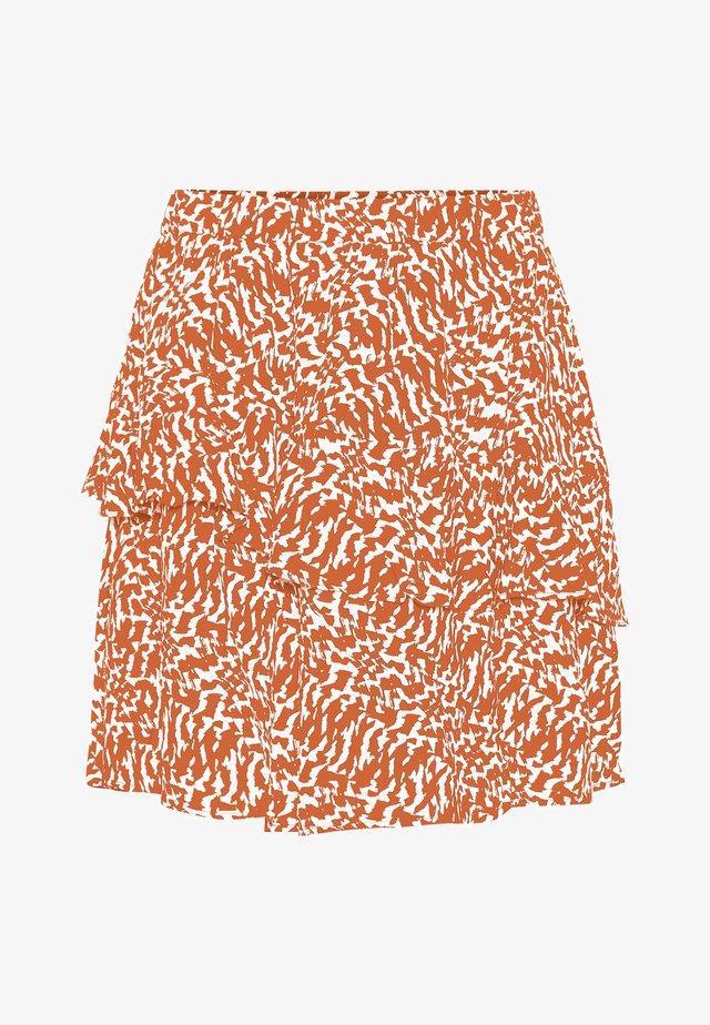 A-lijn rok - mandarin orange