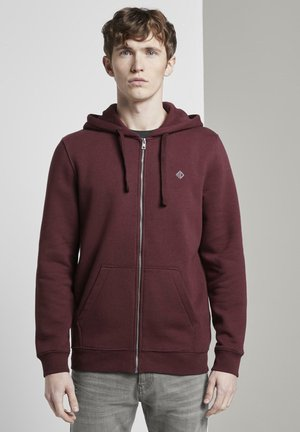 MIT REFLEKT-PRINT - Zip-up hoodie - tawny port red