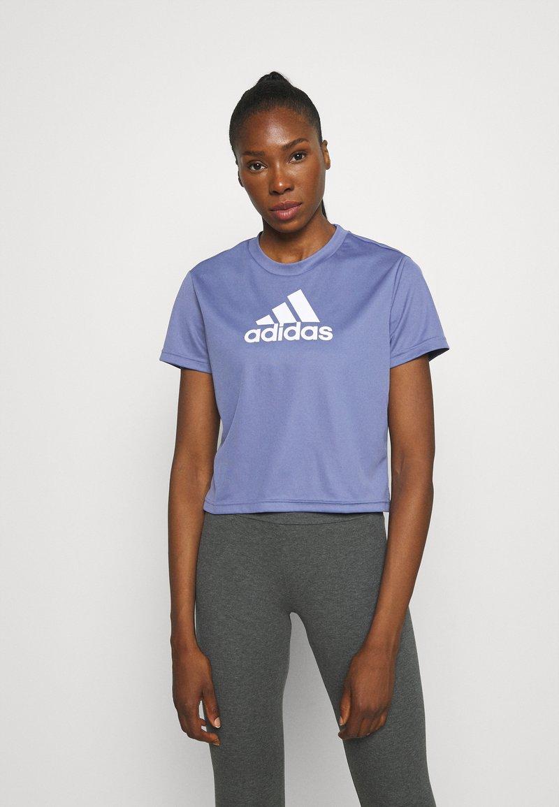 adidas Performance - Camiseta estampada - orbit violet/white