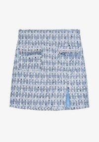 Uterqüe - MIT AUSGEFRANSTEN - Pleated skirt - blue - 6
