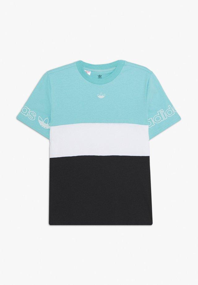 PANEL TEE UNISEX - Triko spotiskem - turquoise/white
