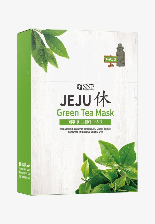 SNP JEJU REST GREEN TEA MASK 10 PACK - Face mask - -