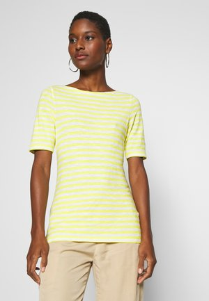 SHORT SLEEVE BOAT NECK STRIPED - Print T-shirt - multi/sunny lime