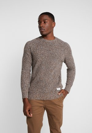 Sweter - mottled dark yellow