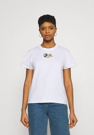 SMALL SIGNATURE TEE - Print T-shirt - white