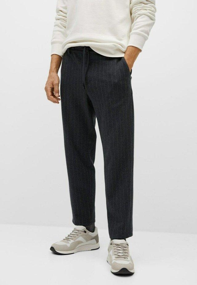 Trousers - dunkelgrau meliert