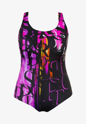 Swimsuit - black/fuchsia