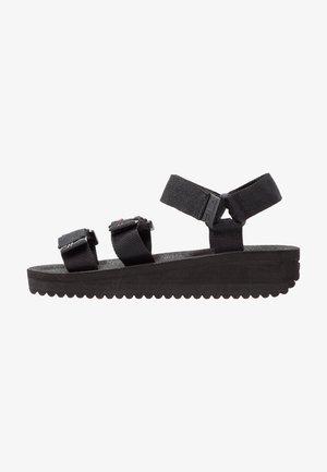 TOMAIA - Sandály na platformě - black