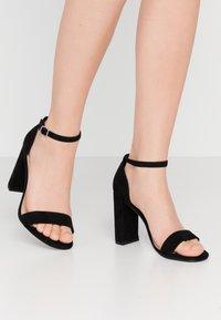 New Look Wide Fit - WIDE FIT VARONA - Sandały na obcasie - black - 0