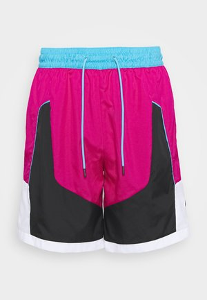 THROWBACK SHORT NARRATIVE - Pantalón corto de deporte - fireberry/black/light blue fury