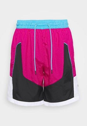 THROWBACK SHORT NARRATIVE - Sports shorts - fireberry/black/light blue fury