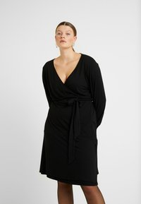 Kaffe Curve - PINA WRAP DRESS - Jersey dress - black deep - 0