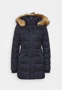 Kabát zprachového peří - midnight blue