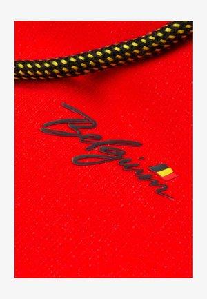 Sweat à capuche zippé - rouge