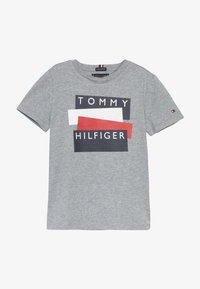 Tommy Hilfiger - STICKER TEE  - Print T-shirt - grey - 2
