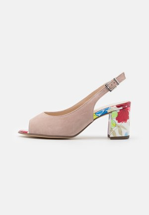 FOLINA - Sandaalit nilkkaremmillä - mauve/multicolor