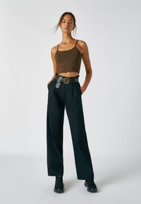 PULL&BEAR - Broek - mottled black - 1