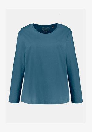 Long sleeved top - bleu de manganèse