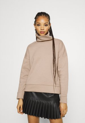 NMASYA NEW ROLL NECK - Sweatshirt - taupe gray