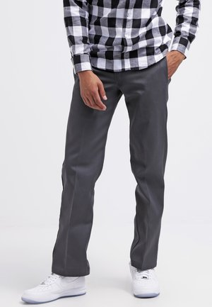 873 SLIM STRAIGHT WORK  - Pantalones chinos - charcoal grey