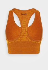 Casall - SHINY ALLIGATOR  - Reggiseno sportivo con sostegno leggero - hazel brown - 1