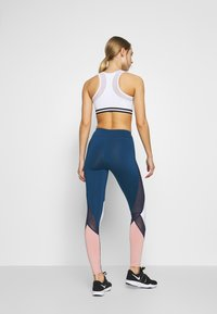 Even&Odd active - Leggings - dark blue/pink/light grey - 2