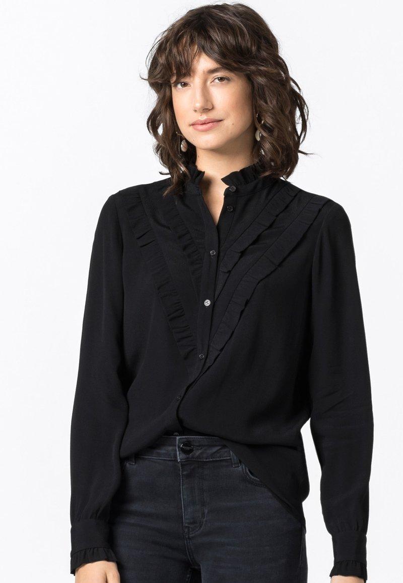 HALLHUBER - Button-down blouse - schwarz