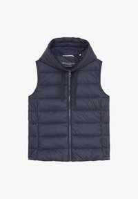 Marc O'Polo - RECYCLED VEST FIX HOOD STAND UP COLL - Waistcoat - midnight blue - 5