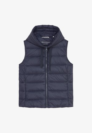 RECYCLED VEST FIX HOOD STAND UP COLL - Waistcoat - midnight blue