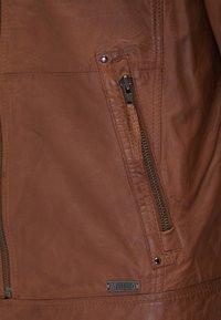 Mustang - Leather jacket - braun - 6