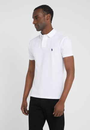 SLIM FIT - Koszulka polo - white