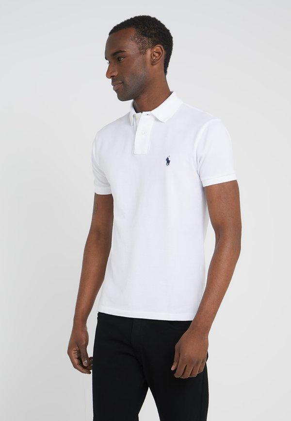 Polo Ralph Lauren SLIM FIT - Koszulka polo - white/biały Odzież Męska HJNU