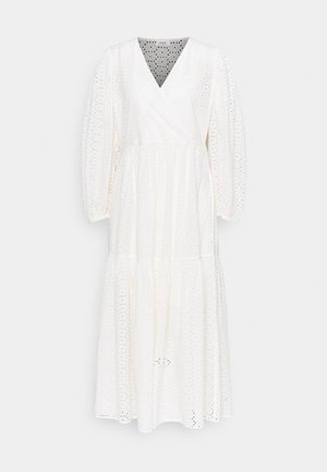 DRESS WRAP LOOK LONGSLEEVE - Maxi dress - scandinavian white