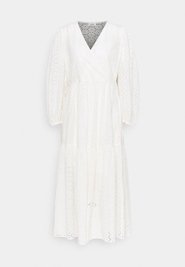 DRESS WRAP LOOK LONGSLEEVE - Robe longue - scandinavian white