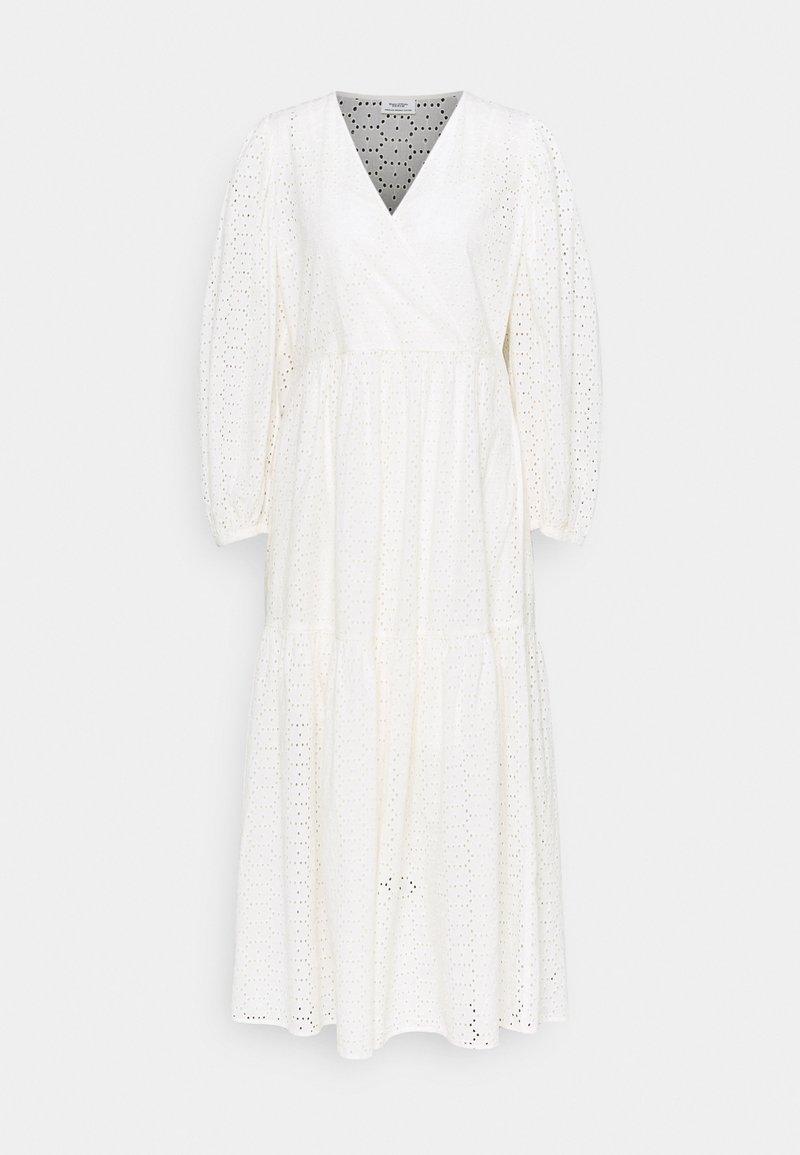 Marc O'Polo DENIM - DRESS WRAP LOOK LONGSLEEVE - Maxi dress - scandinavian white